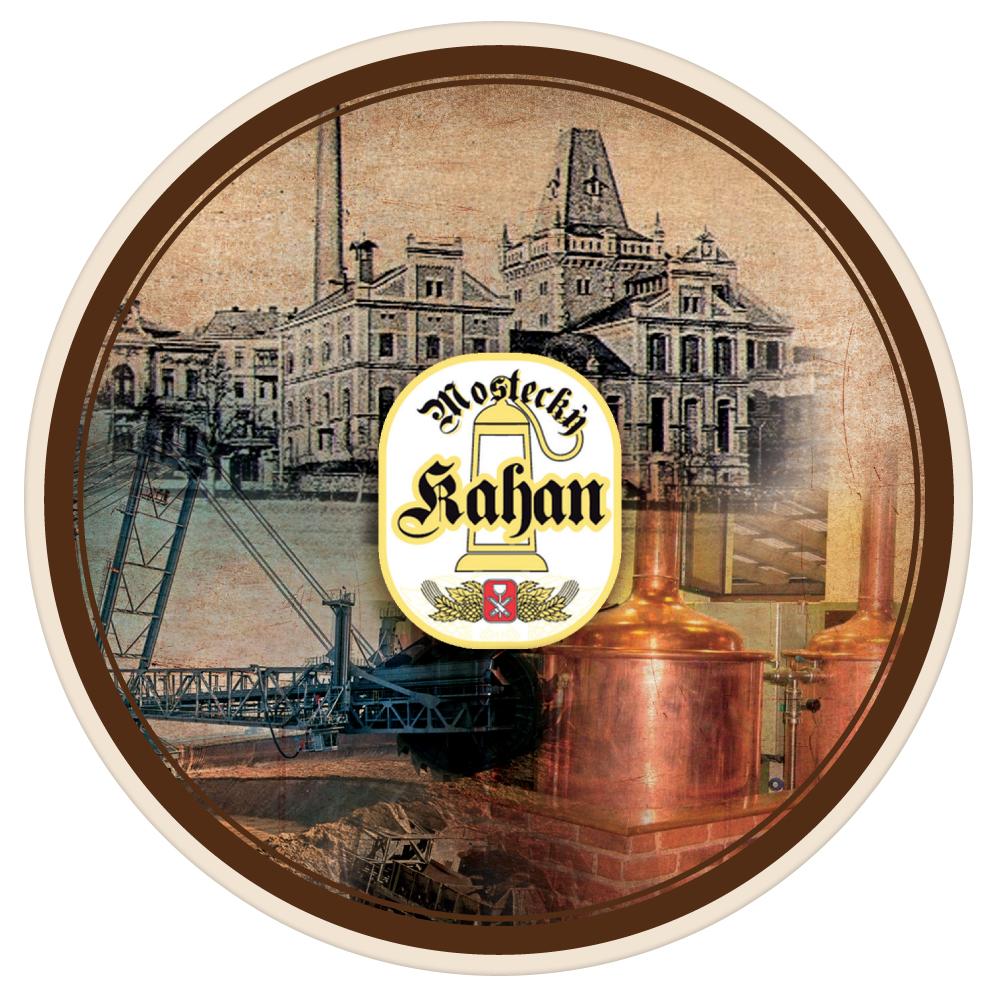 Naše pivní tácky má i mostecký Pivovar Kahan
