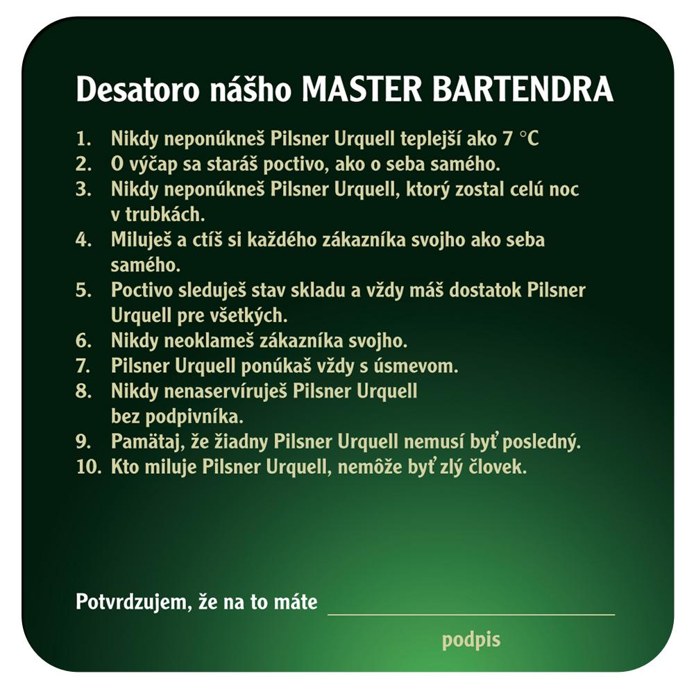 Pivní tácky pro promo Pilsner Urquell